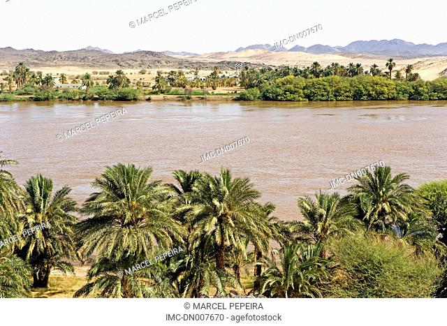 Sudan, eastern Sahara, the Nile near Sesebi