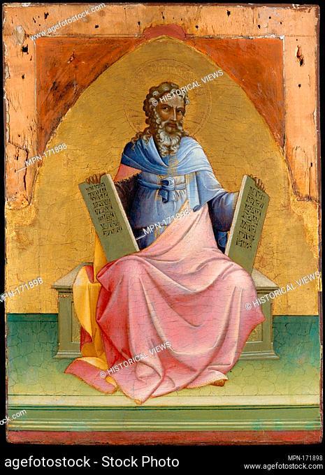 Moses. Artist: Lorenzo Monaco (Piero di Giovanni) (Italian, Florence (?) ca. 1370-1425 Florence (?)); Date: ca. 1408-10; Medium: Tempera on wood