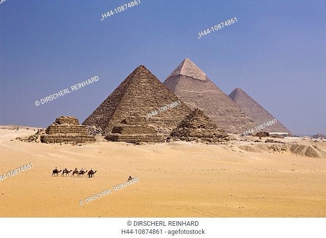 Pyramiden von Gizeh, Kairo, Aegypten, Pyramids of Giza, Cairo, Egypt