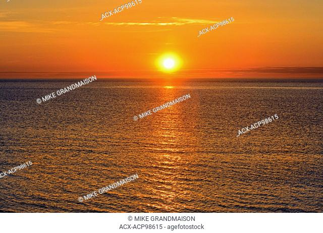 Sunrise over the Northumberland Strait Cap Lumiere New Brunswick Canada