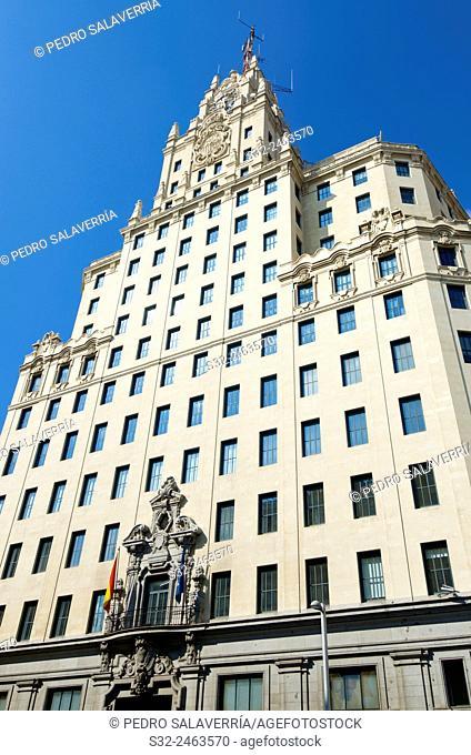 Telefonica Building in Madrid, Spain