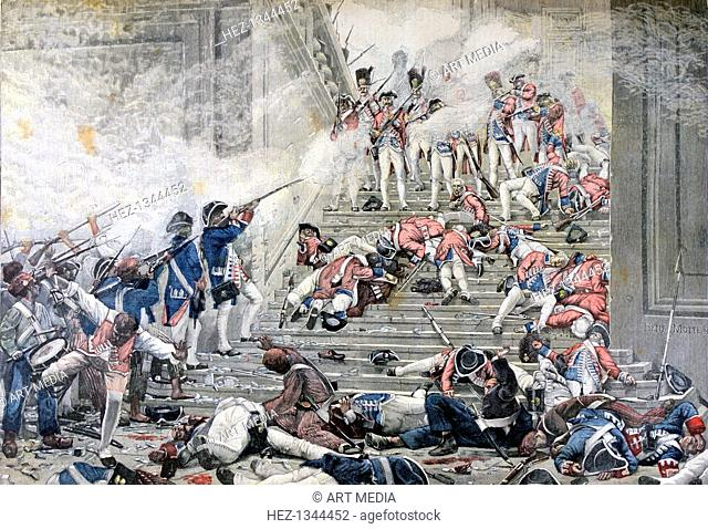 'Taking of the Tuileries', 10th August 1792, (1892). A print from the Le Petit Journal, 13th August 1892