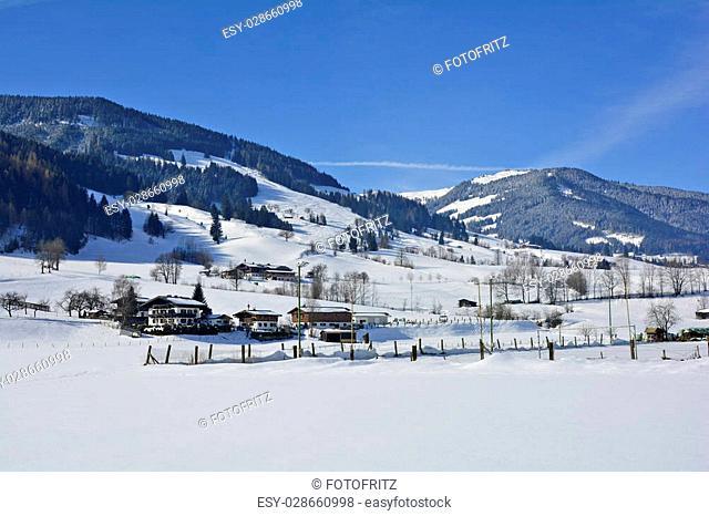 Austria, winter landscape in Salzburg county