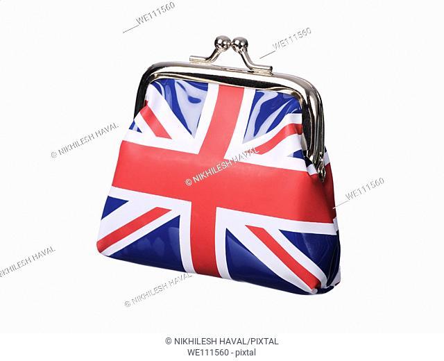 British money purse Union Jack flag