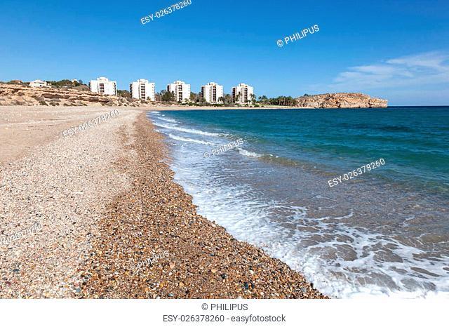Coast in Puerto de Mazarron, Region Murcia, Costa Calida, Spain