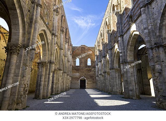Abbazia di San Galgano. Tuscany Italy