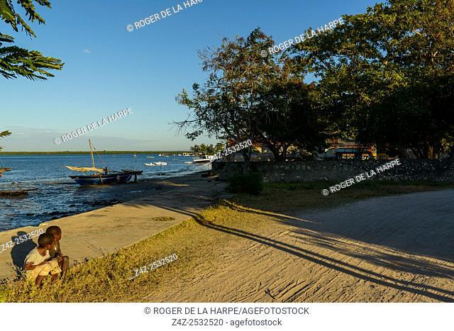 Harbour scene. Ibo Island. Mozambique