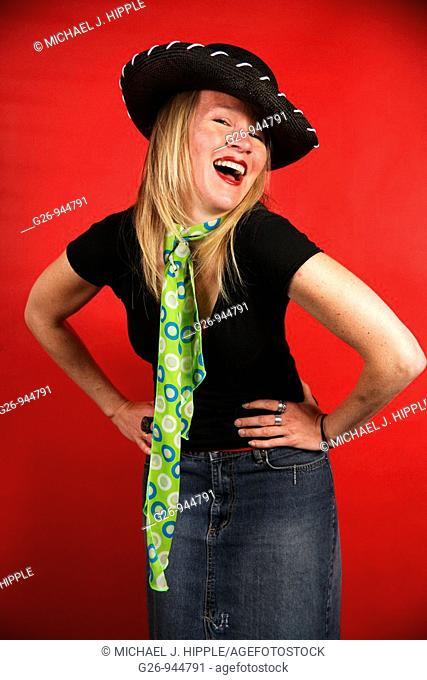 Woman in bolero hat