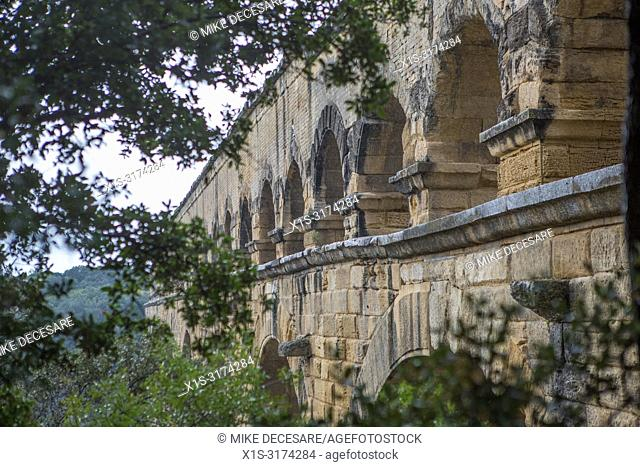 Pont Du Gard, an aqueduct in the south of France, was build by the Romans to distribute water to communities throughout their empire