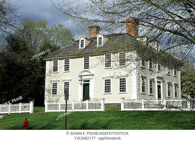 The Joseph Barnard House, built 1769-1772, Old Deerfield, Deerfield, Massachusetts, United States, North America. Editorial use only