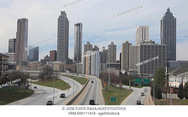USA, Georgia, Atlanta City , Down Town Skyline