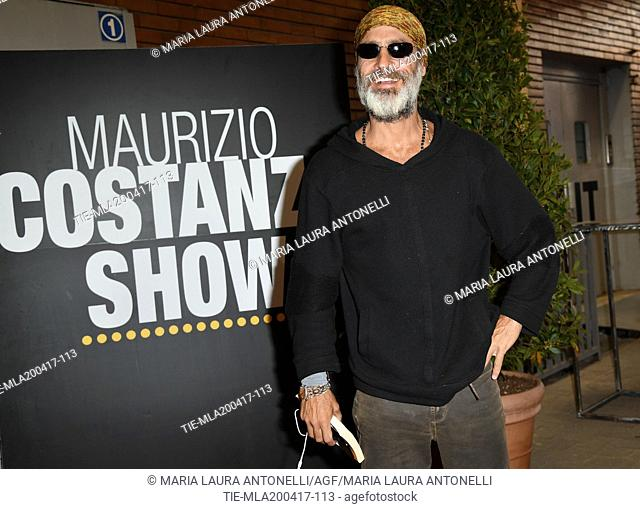 The former model Raz Degan at tv program Maurizio Costanzo Show, Rome, ITALY-20-04-2017