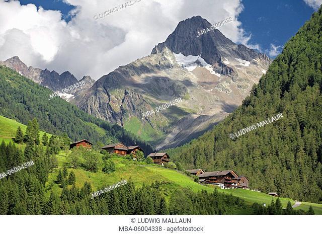Austria, Tyrol, Kals (village), Unterlesach with Glödis