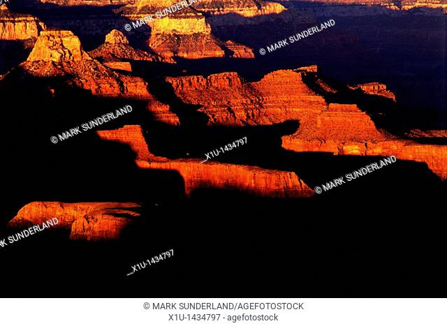 Sunset from Hopi Point, Grand Canyon, Arizona, USA