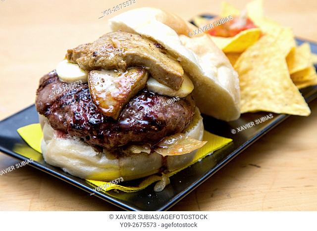Hamburguesa con foie gras