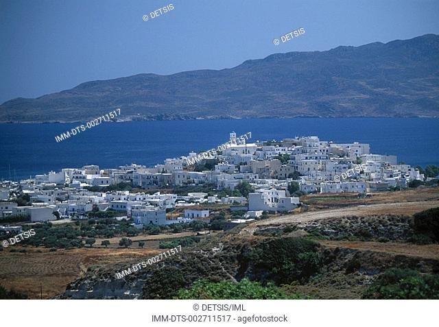 Adamas town viewed from Kaminia , Milos island  Cyclades  Greece
