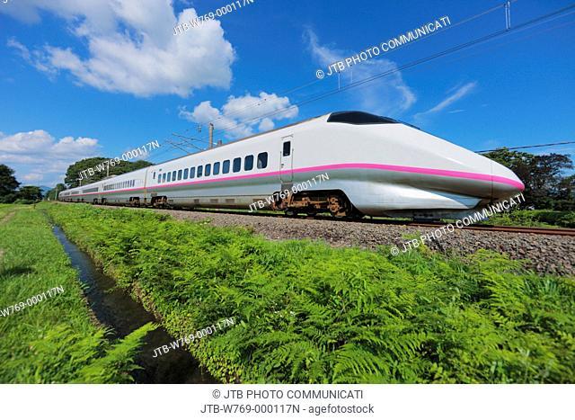 Akita Shinkansen, Komachi, railway, Daisen, Akita, Tohoku, Japan