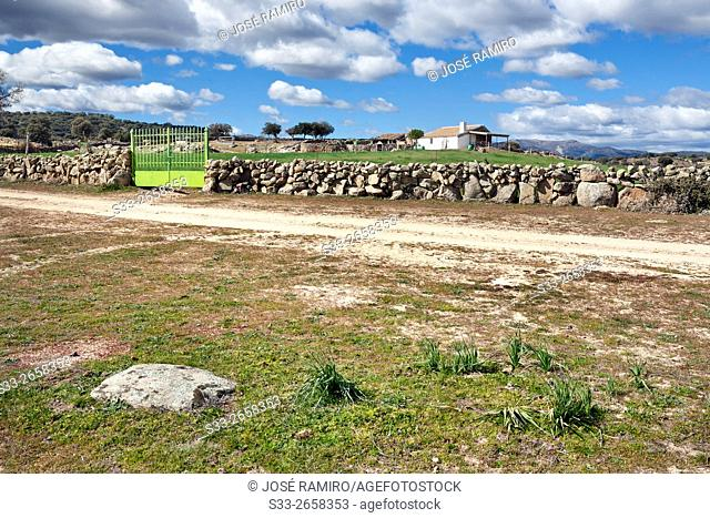 Farm in Navahermosa. Toledo. Castilla la Mancha. Spain. Europe