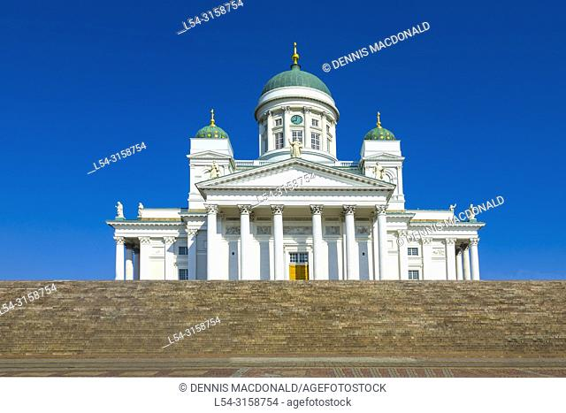 Helsinki Cathedral is the Finnish Evangelical Lutheran cathedral of the Diocese of Helsink located in the district of Kruununhaka in the centre of Helsinki...
