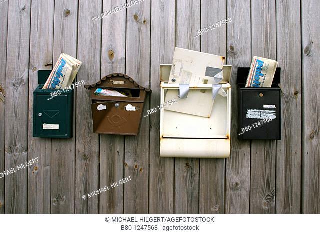Postboxes, Kiel, Germany