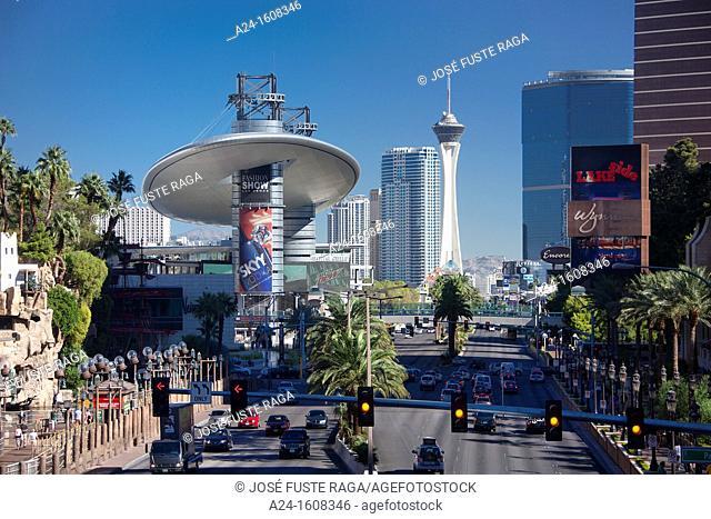 USA-Nevada-Las Vegas City-The Strip Avenue-Stratosphere Tower