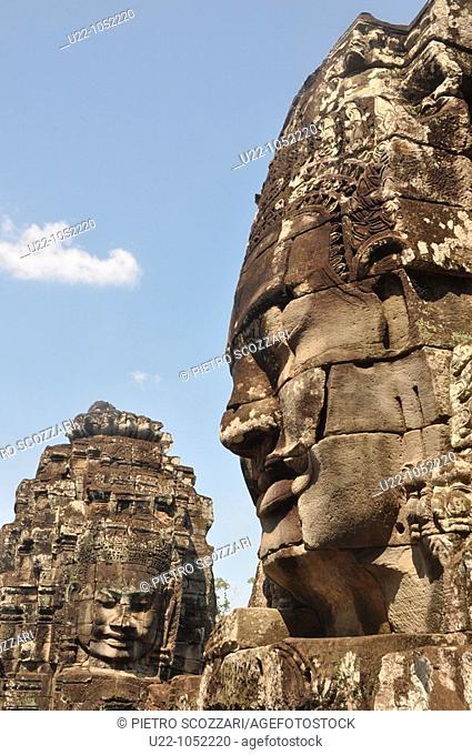 Angkor (Cambodia): statue at the Bayon