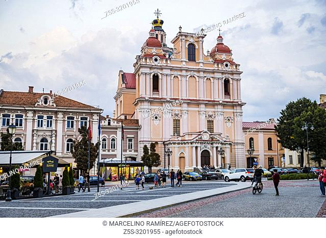 Church of St. Casimir is a Roman Catholic church in Vilnius' Old Town. It is the first and the oldest baroque church in Vilnius, built in 1618