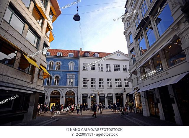 Strøget street, Copenhagen's aorta and one of Europe's longest pedestrian streets with a wealth of shops