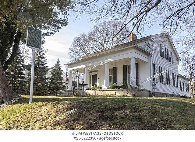 Marshall, Michigan - The Governor's Mansion, built in 1839 when the city leaders expected Marshall to be designated Michigan's capital