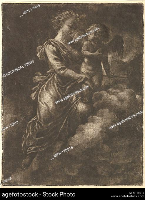 Venus and Cupid. Artist: Allart van Everdingen (Dutch, Alkmaar 1621-1675 Amsterdam); Medium: Mezzotint; Dimensions: 6 3/8 x 4 15/16 in. (16.2 x 12