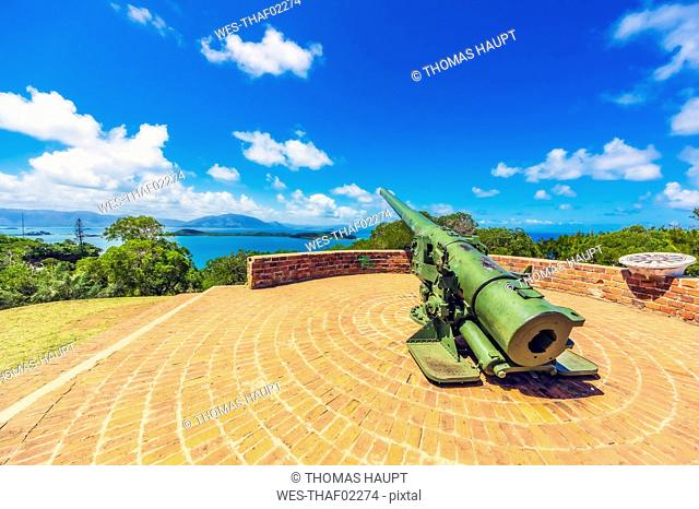 New Caledonia, Noumea, old cannon, viewpoint