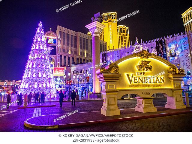 The Venetian hotel & Casino in Las Vegas. With more than 4000 suites it's one of the most famous hotels in the world