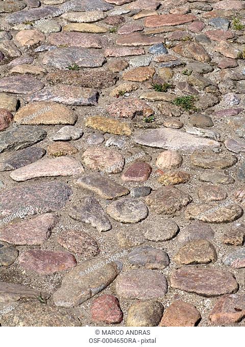 empty stoned pavement street