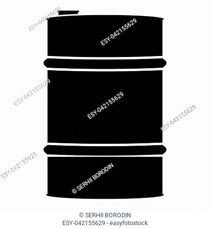 Oil baller icon black color vector illustration flat style simple image