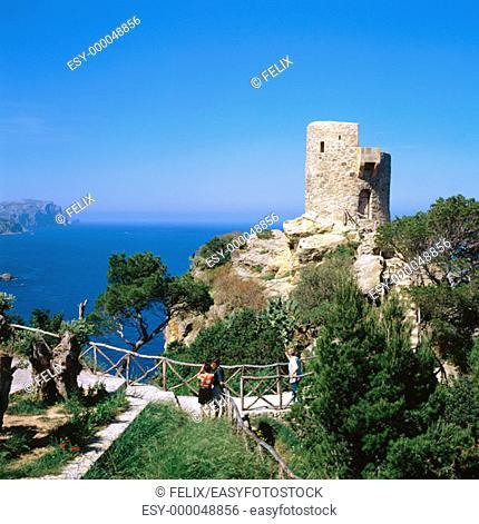 Ses Animes tower. Banyalbufar. Majorca. Balearic Islands. Spain