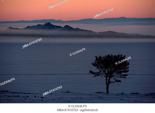 Dusk at Lake Baikal, Irkutsk region, Siberia, Russia