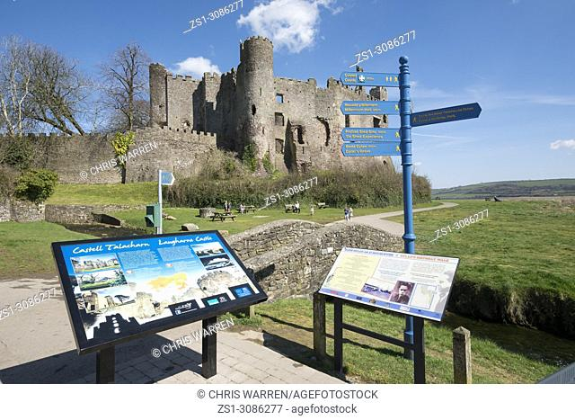 Tourist Information Laugharne Castle Laugharne Carmarthenshire Wales