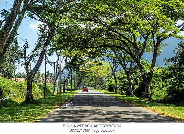 Kuching-Santubong road, Sarawak, Malaysia