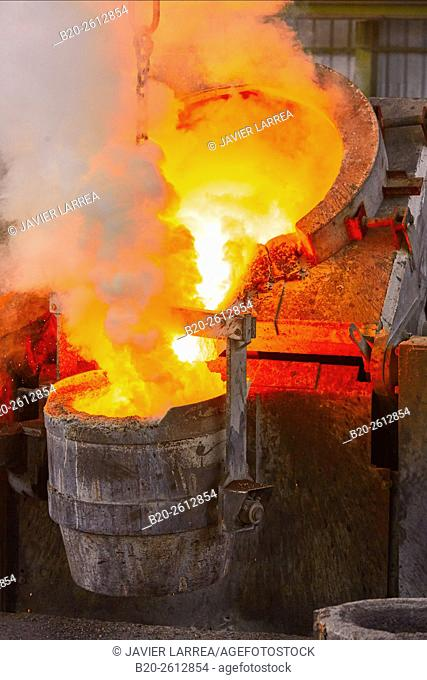 Cast metal, Steel foundry, Smelting, casting. Navarra. Spain