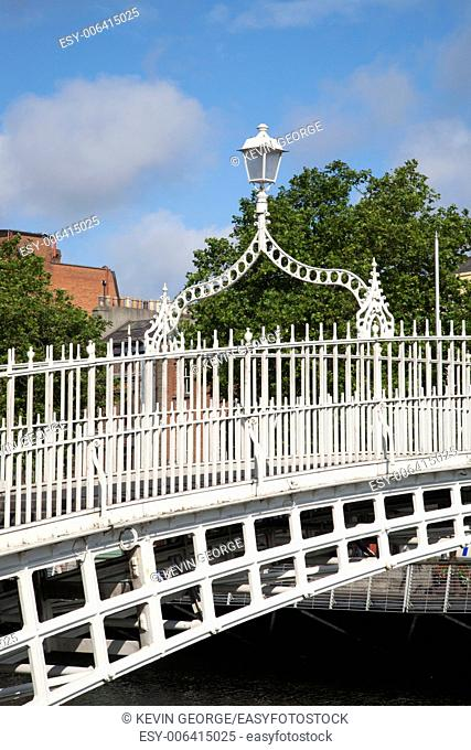Ha'penny Bridge, River Liffey, Dublin; Ireland