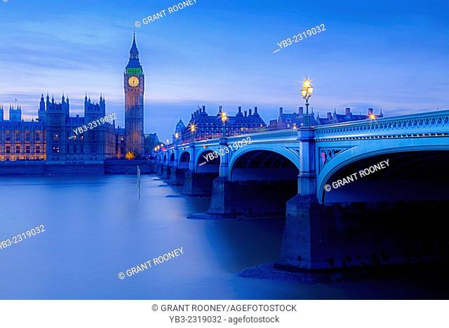 The Houses Of Parliament and Westminster Bridge, London, England