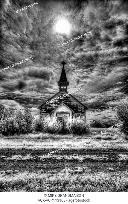 Old church, Saskatchewan, Canada