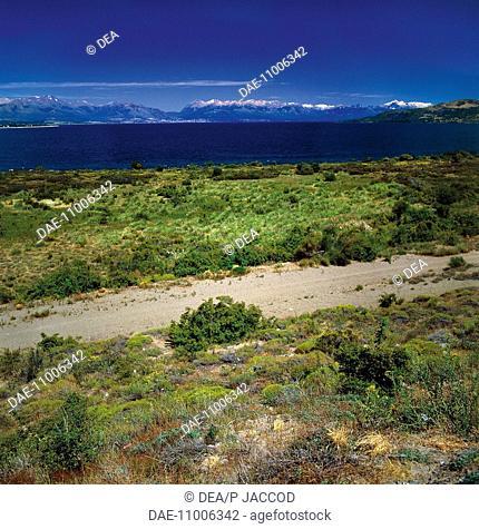 Argentina, Patagonia, Nahuel Huapi National Park. Lake Nahuel Huapi