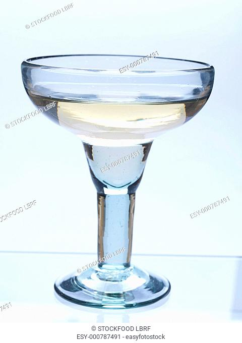 Tall Shot of Tequila on a White Background