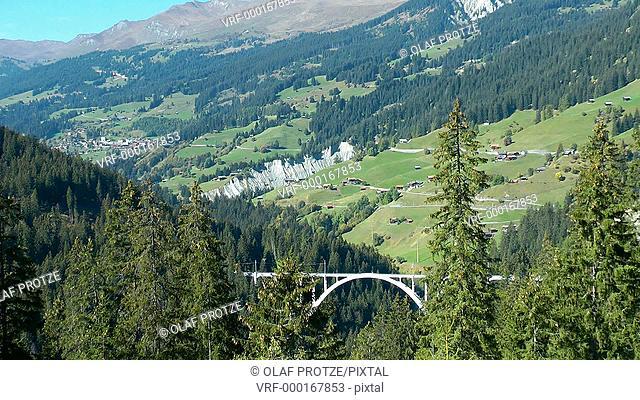 Langwies Viaduct, Swiss Alps, Switzerland, Schweiz