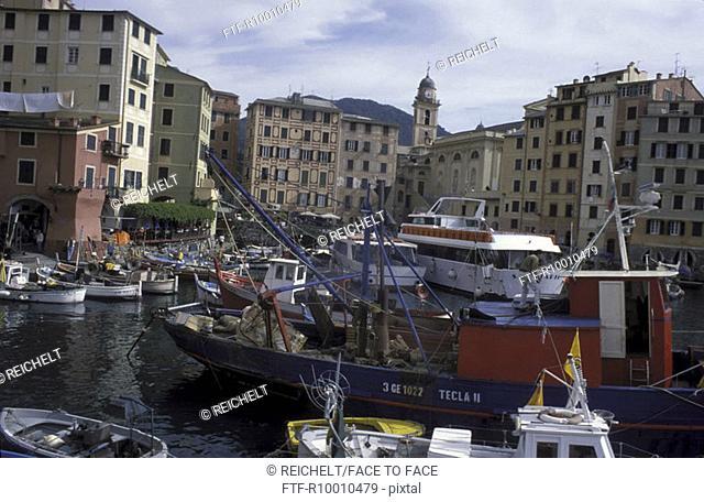 Old town, Italy,Camogli, Cinque Terre