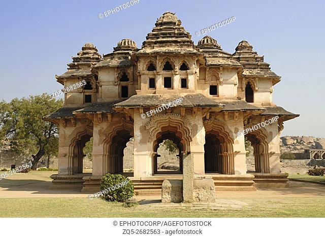 Hampi - Karnataka - Lotus Mahal, General - View