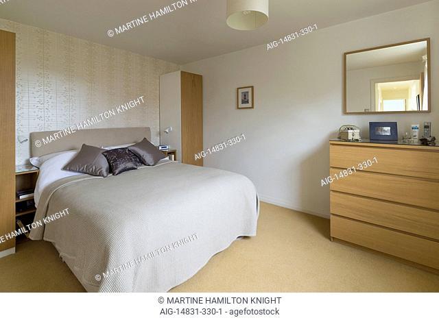 Double bedroom, Nottingham, England, UK