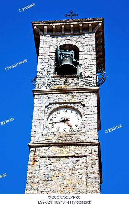monument clock tower in italy europe and bell