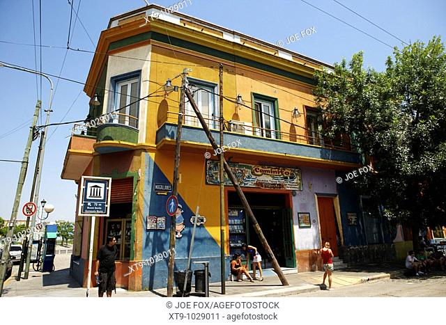 colourful building in caminito street la boca capital federal buenos aires republic of argentina south america